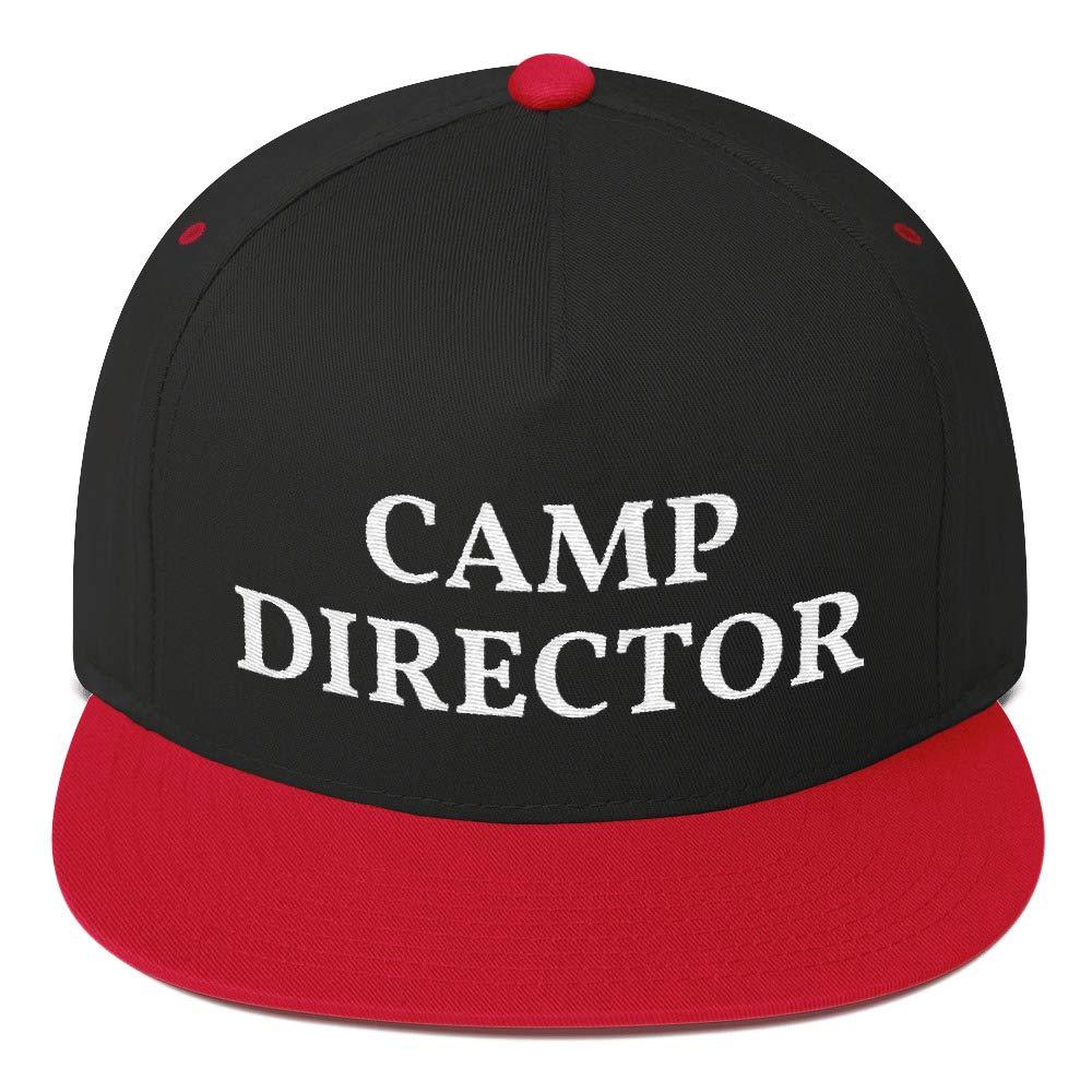 Styledjustforyou Camp Director 5 Panel Embroidered Snapback Hat Flat Bill Cap