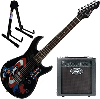 Peavey Marvel Capitán América Guitarra con amplificador de 6 ...