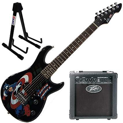 Amazon.com: Peavey Marvel - Guitarra con soporte para ...