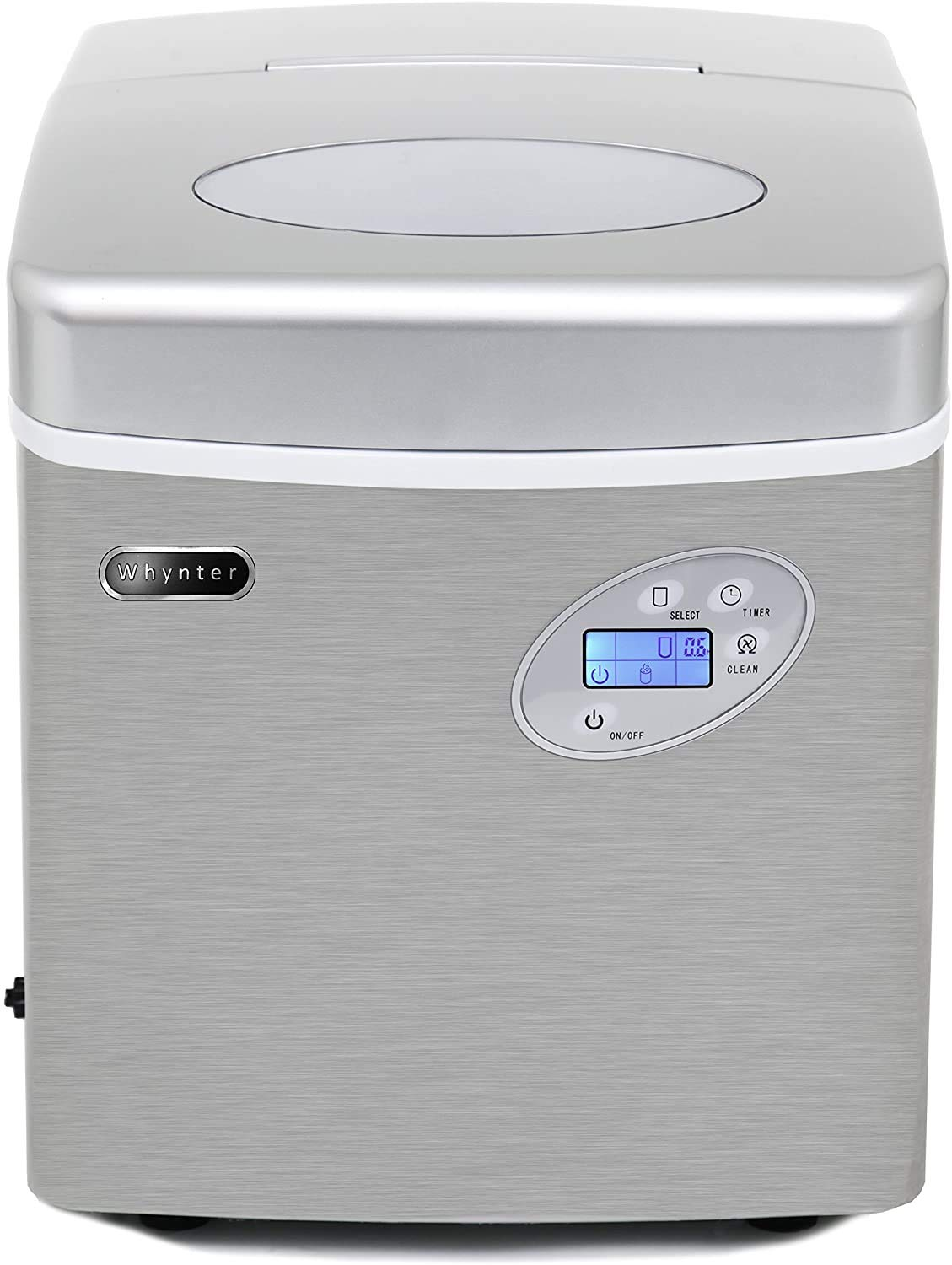 Whynter IMC-491DC Portable 49lb Capacity Stainless Steel with Water Connection Ice Makers, One Size