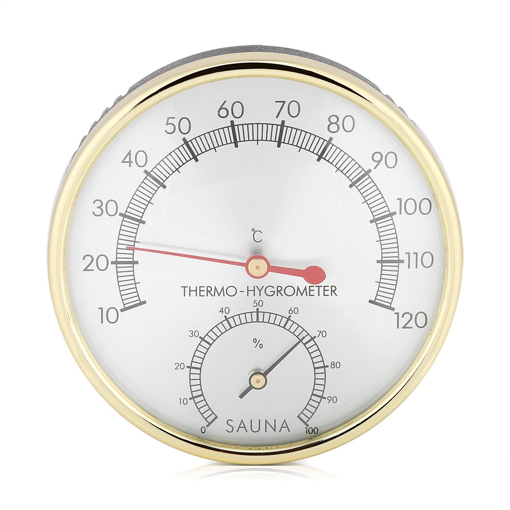 2 in 1 Sauna Thermometer Hygrometer Hygrothermograph Sauna Accessory for Homes Shops Schools Office Warehouse Markets Fdit