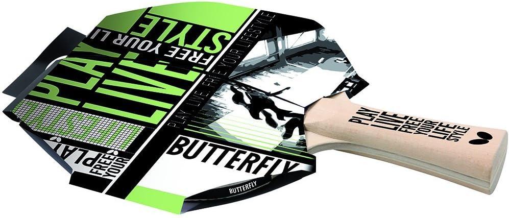 Butterfly Mariposa Libre tu Estilo de Vida Raqueta de Tenis de Mesa, Color
