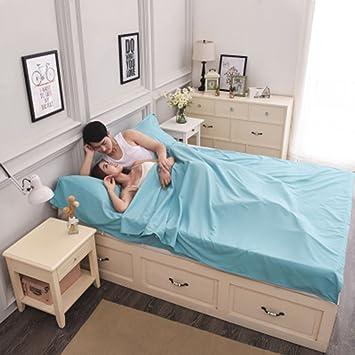 LINGJUN Durable y Hoja de Super Suave Viaje/Saco de Dormir/Saco de Dormir