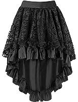 Burvogue Women's Halloween Asymmetrical High Low Steampunk Corset Skirt