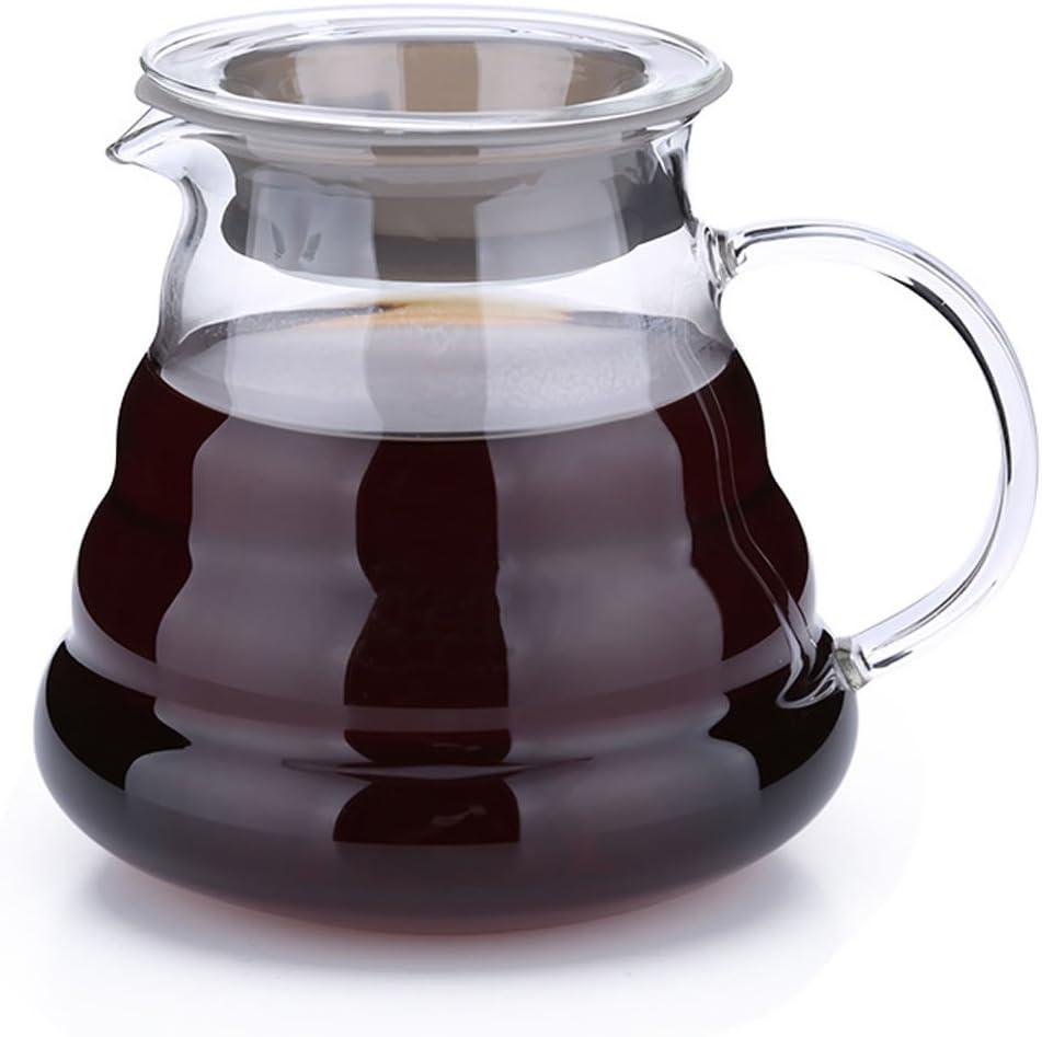 OUBORUI 250/ml//360ML//600ML caff/è caraffa in vetro resistente al calore con manico As the Picture 250 ML