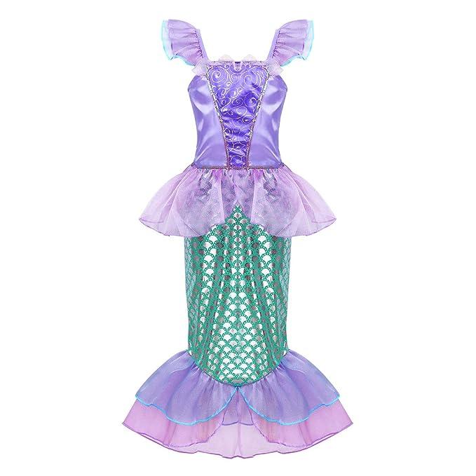 Amazon.com: dPois Kids Girls Little Princess Mermaid ...