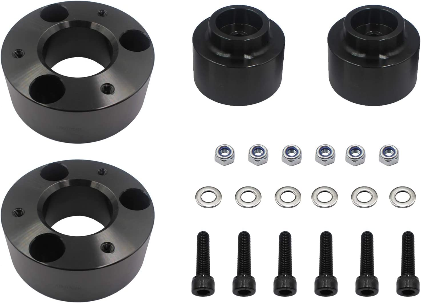 2 inch Rear Full Lift Kit Leveling Kit Compatible with Dodge Ram 1500 4WD 2009-2018 Black LAFORMO 3 inch Front