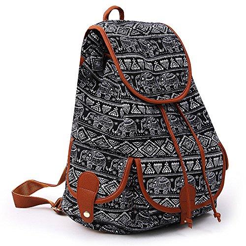 Ragazzi Per Modacanvas Donna Cartella Bag Backpack Donne Pack Zaino Casual Ragazze Sport Viaggio Giorno Da Book Le Canvas Scuola K Ginli Vintage v4xz66