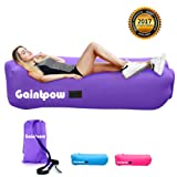Inflatable Lounger, Gaintpow Air Lounger with Stronger Fabric, Waterproof Lazy Lounger Inflatable Sofa Sleeping Bag, Portable Outdoor Lounger for Camping, Hiking, Swimming Pool, Beach, Backyard, Travelling, 2017 Improved Version with Thicker Nylon Fabric