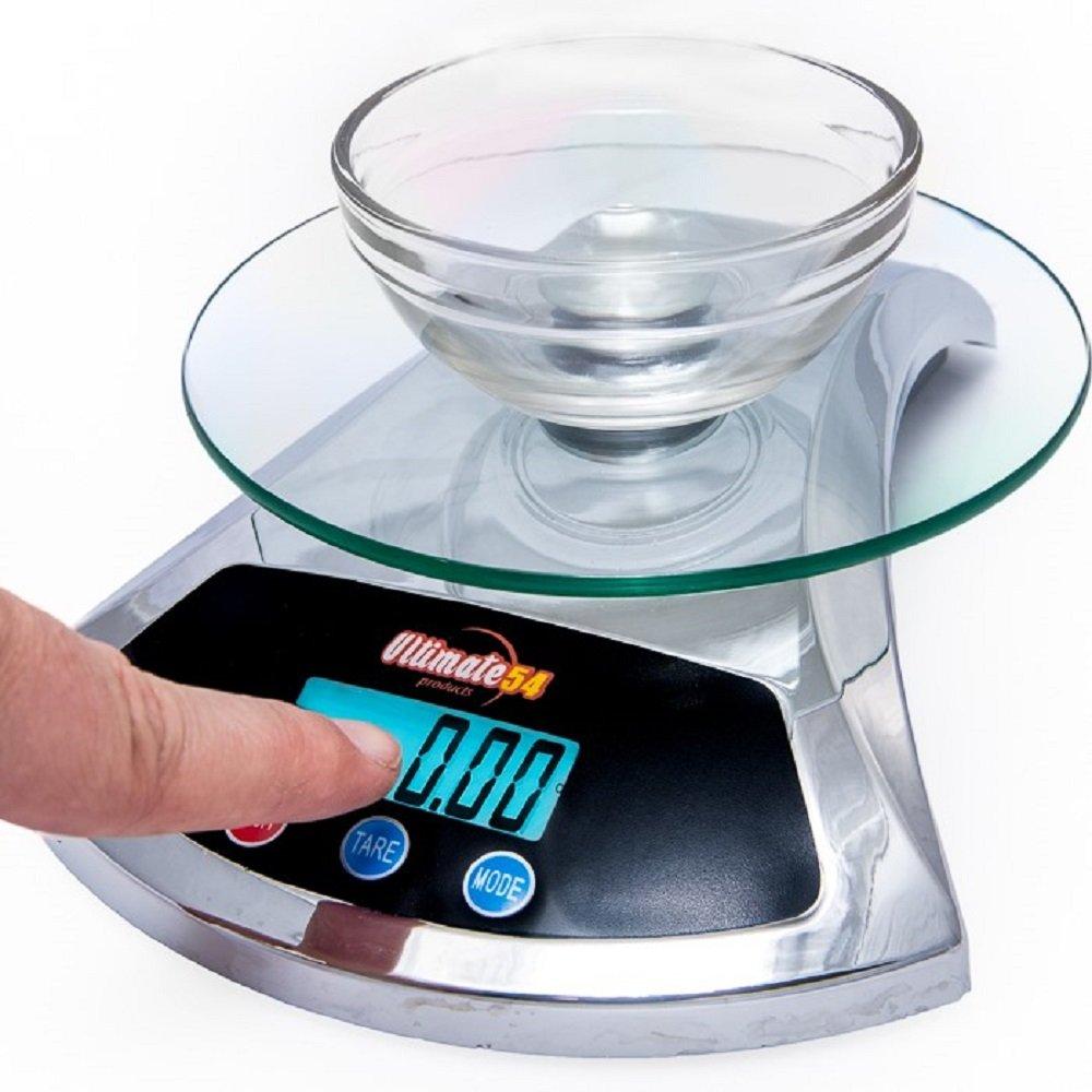 Amazon.com: Ultimate54 Digital Kitchen Food Scale 22lb/10kg Capacity ...