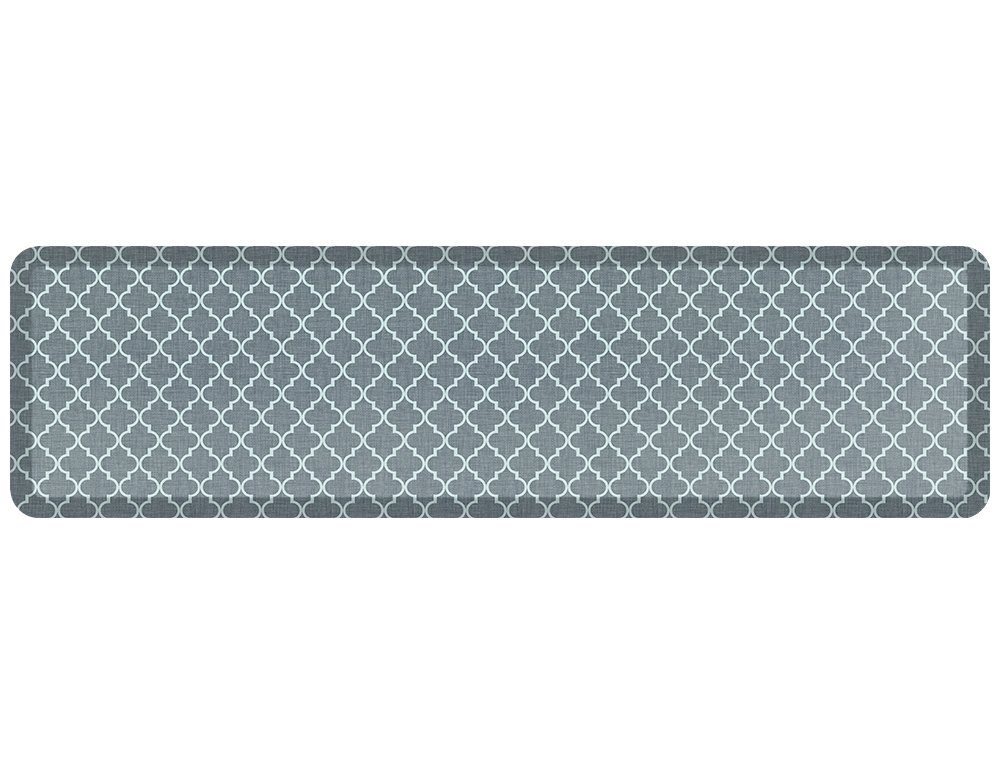 NewLife by GelPro Designer Comfort Mat, 20 by 72-Inch, Lattice Mineral Grey