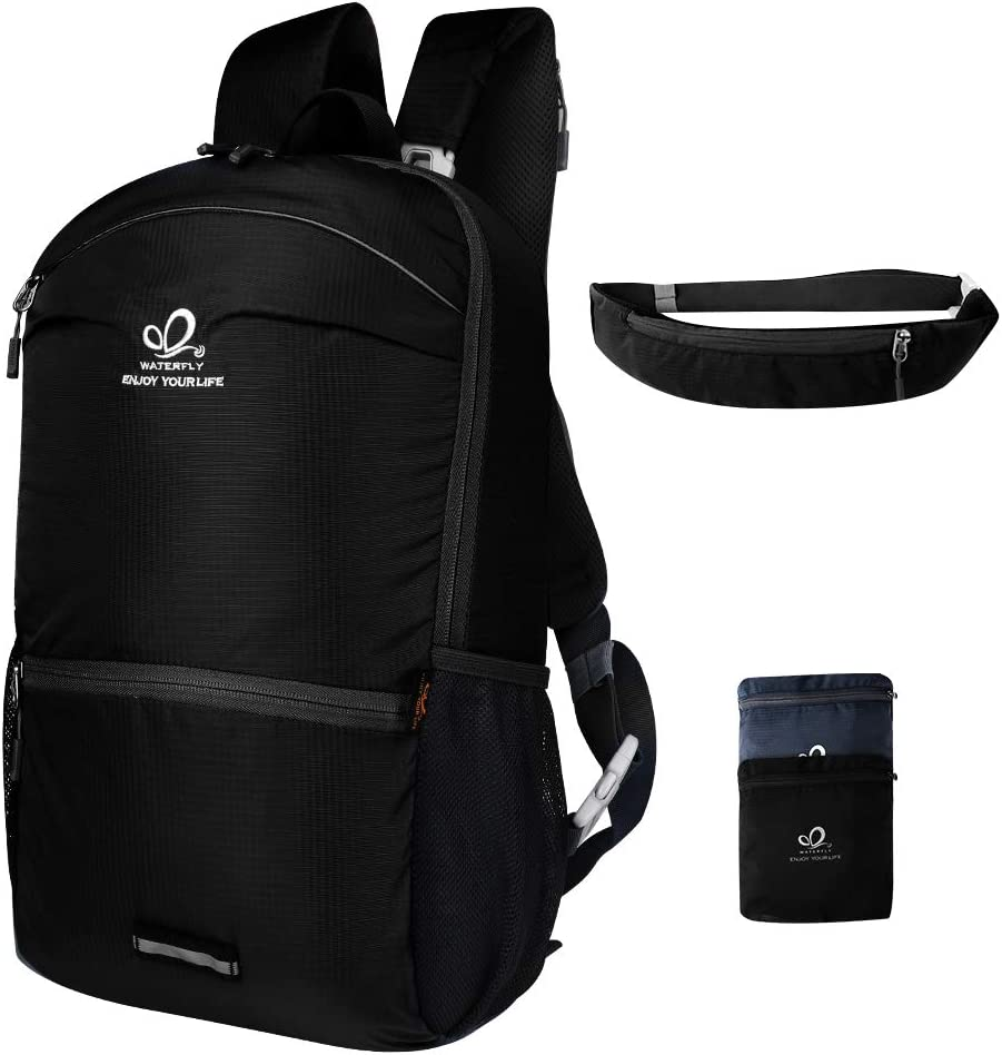 Waterfly Travel Backpack Daypack Packable Hiking Camping Outdoor Sports Lightweight