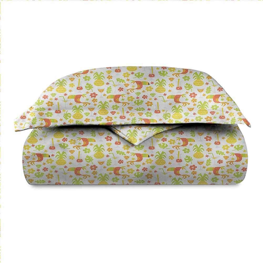 dsdsgog Foldable Luau,Toucan Birds Pineapples 53x79 for Girl Boys Daycare Preschool Lightweight