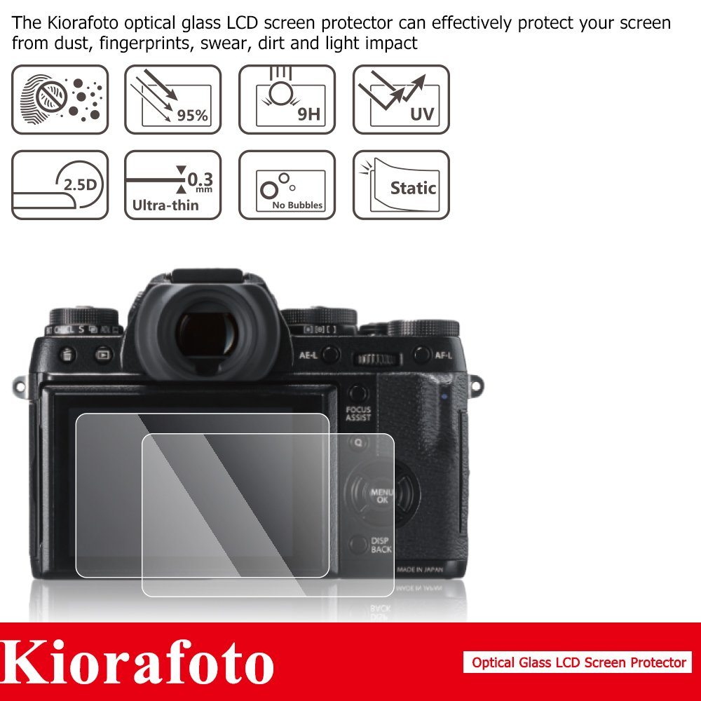 Sub-screen PET Film Protector for Canon EOS Rebel T7i T6s T6i T5i 800D 760D 750D 700D Camera Screen Protector with Hot Shoe Dustproof Cap Kiorafoto 2 Pack Optical Tempered Glass LCD Screen Protector