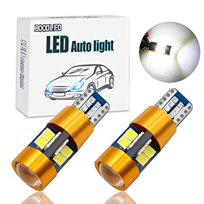 Boodlied 2Pcs 4.6W 9~30V 168 194 T10 LED Bulb 900LM Super Bright 3014 57-SMD Chips W5W 175 2825 Wedge LED Bulbs for Turn Signal Dome Map Plate Sied marker Lights.(White). (Yellow-Body): Automotive
