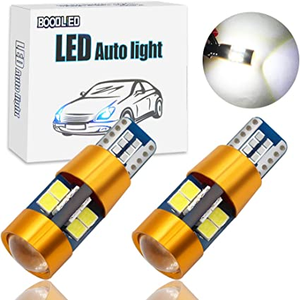 PAIR T10 W5W 194 AMBER INTERIOR DOME//MAP WEDGE LIGHT BULB w//9 X SUPER FLUX LED