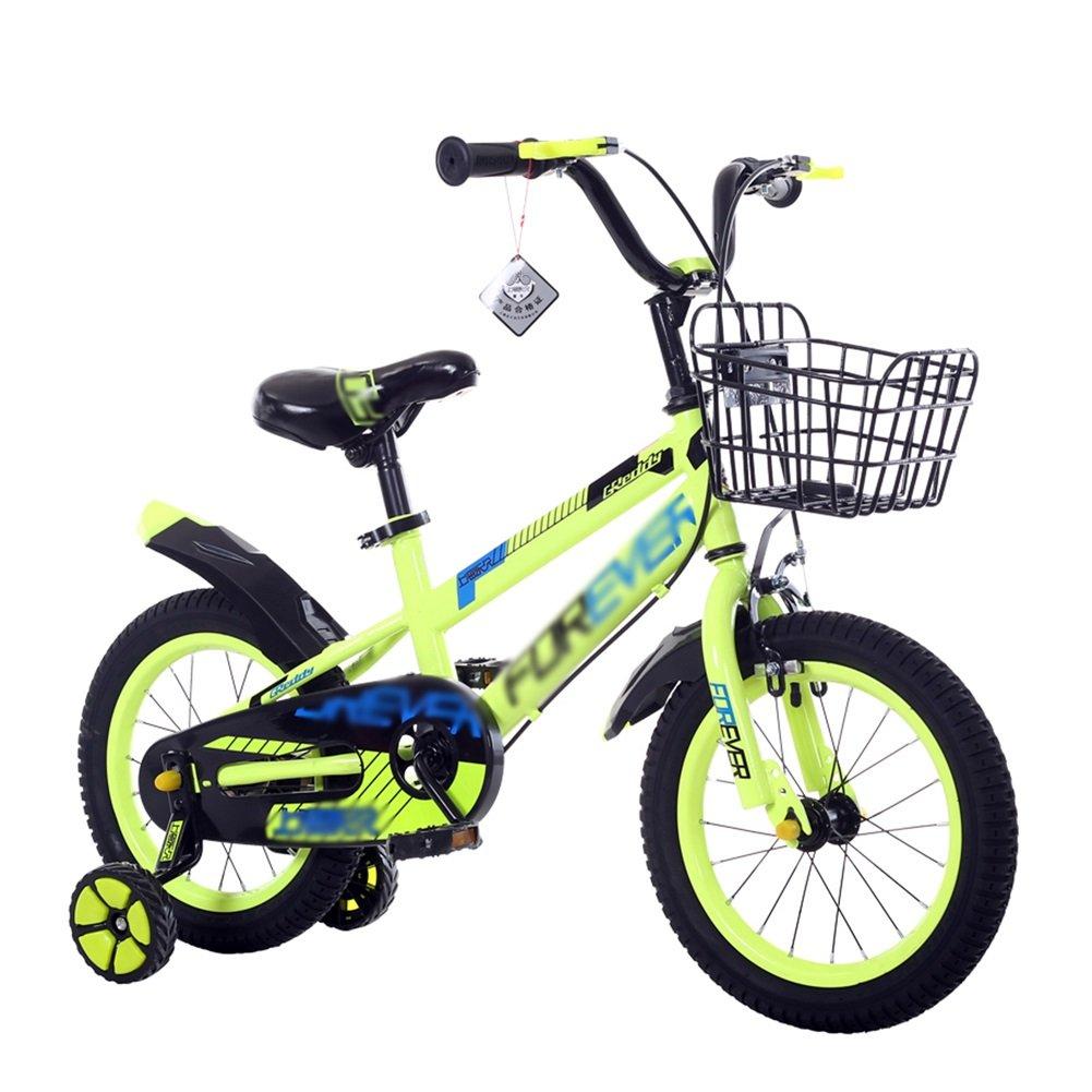 子供用自転車子供用自転車と子供用自転車12-14-16-18 Inch Green Blue Red B07DV1LW46 16 inch|緑 緑 16 inch