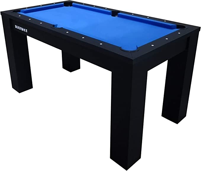 BuckShot Mesa de Billar 5ft (152x81x76cm) - Billar Americano Oxford Pool 5 ft - 60kg - Accesorios Incluidos - Nero/Azul: Amazon.es: Deportes y aire libre