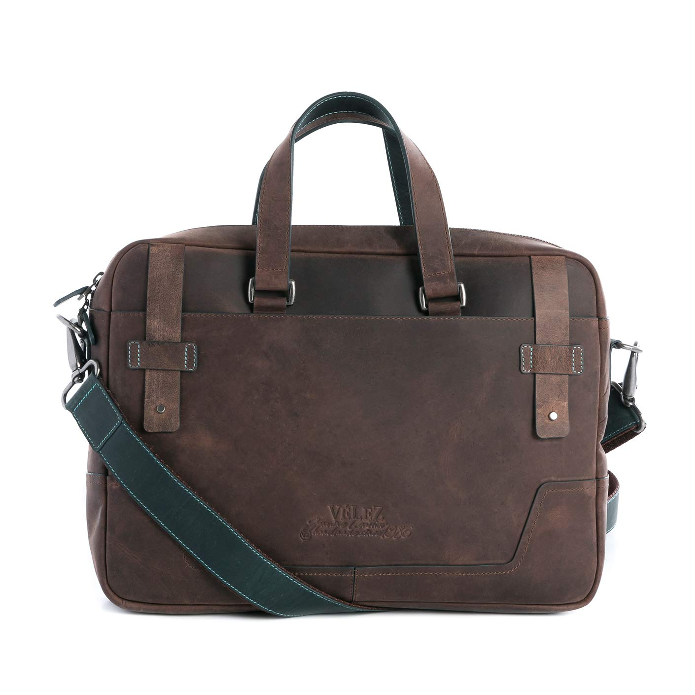 ... Genuine Colombian Leather Business Travel Briefcase Laptop Crossbody Messenger Bag | Maletin y Bolso de Cuero Colombiano para Hombres Black | Briefcases