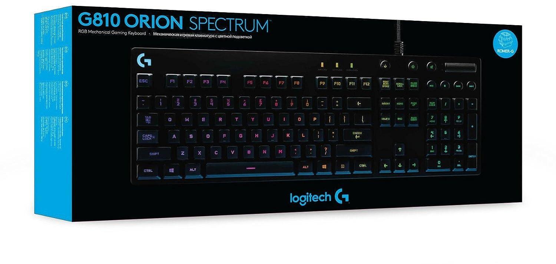 Logitech G810 - Teclado mecánico RGB para Gaming Orion Spark (distribución QWERTZ alemán) Color Negro: Amazon.es: Informática