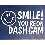 SMILE! YOU'RE ON DASH CAM Car/Van/Window/Bumper Novelty Camera Security Sticker