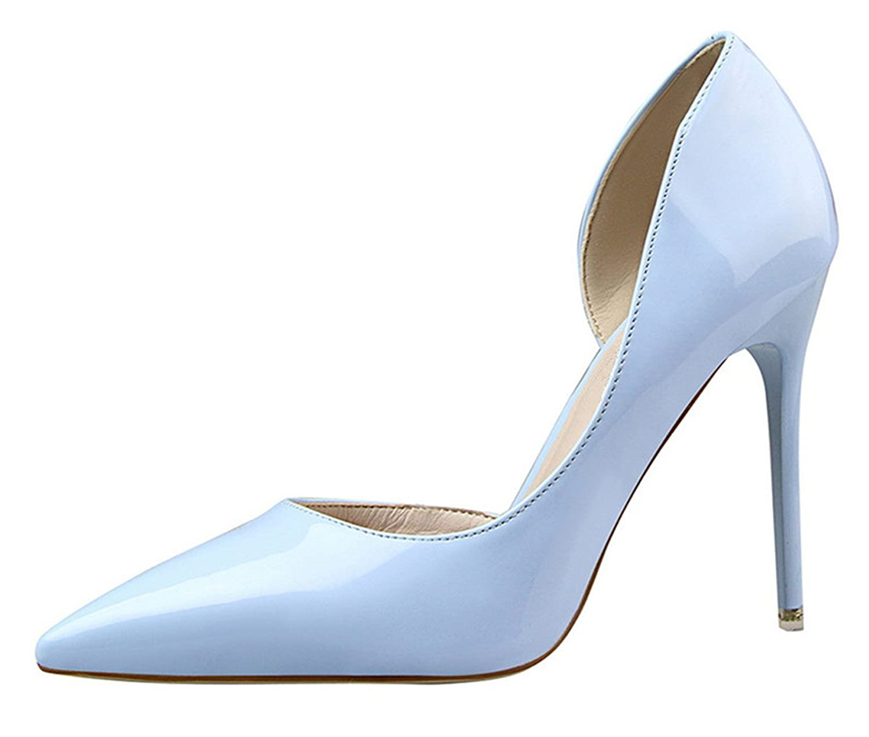 Twinkle UU Toe Pointed Toe UU Patent Leather Stiletto high Heels Spring Autumn Wedding Shoes B07DQLTP1S 4.5 M US|Orange 9d535f