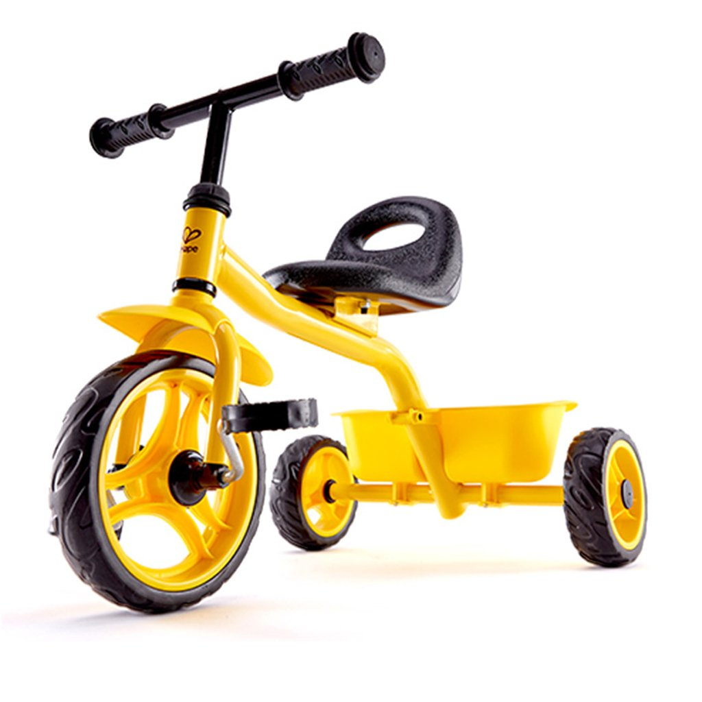 子供の三輪車の子供の自転車Trikeの三輪車の乗り物バイクのおもちゃの三輪車の幼児の自転車インストールする必要がありますバランスのとれた三輪車2-5歳インフレータブル運動パズルベビーキャッチウォーカー (Color : Yellow, Size : 48*50*73cm) 48*50*73cm Yellow B07GX8JY32