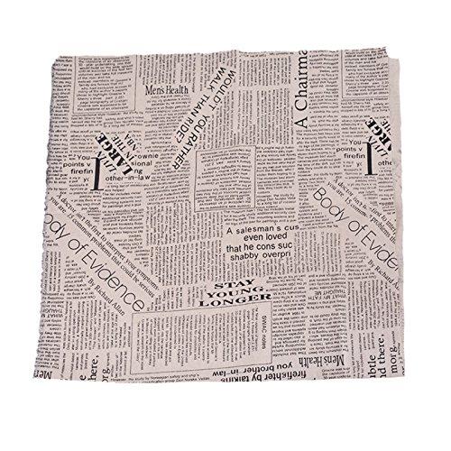 Tela de algodon retro de lino diseño periodico para tapizar sillas descalzadoras para manualidades, costura cojines guirnaldas caravanas escaparates ...