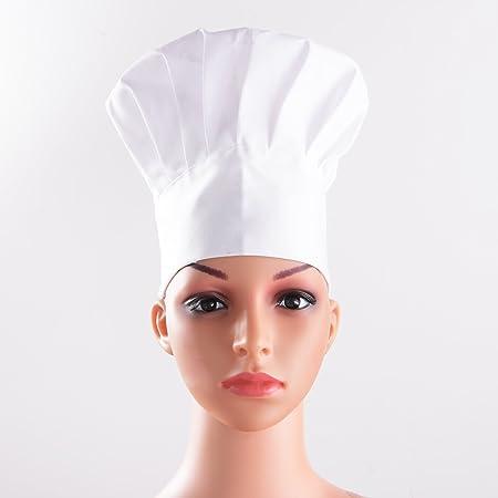 Cotone 2 Cappelli da Regolabile Cuoco Cappelli Elastico Pezzi da 7xwnxqI6OH