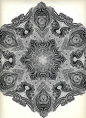 Psychedelic Mandalas X Saladin Lithograph 1967 from Generic