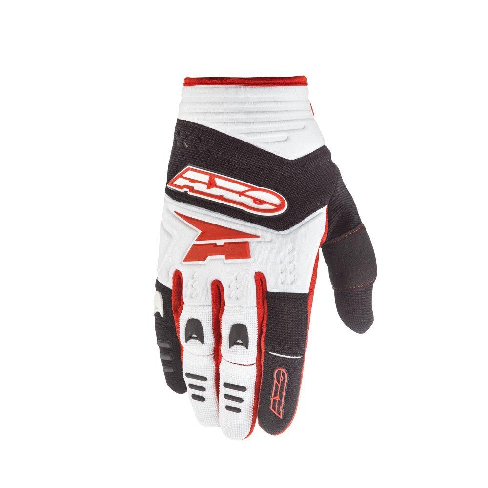AXO Unisex-Adult Padlock Gloves White//black//red XX-Large 12 12017-05-120