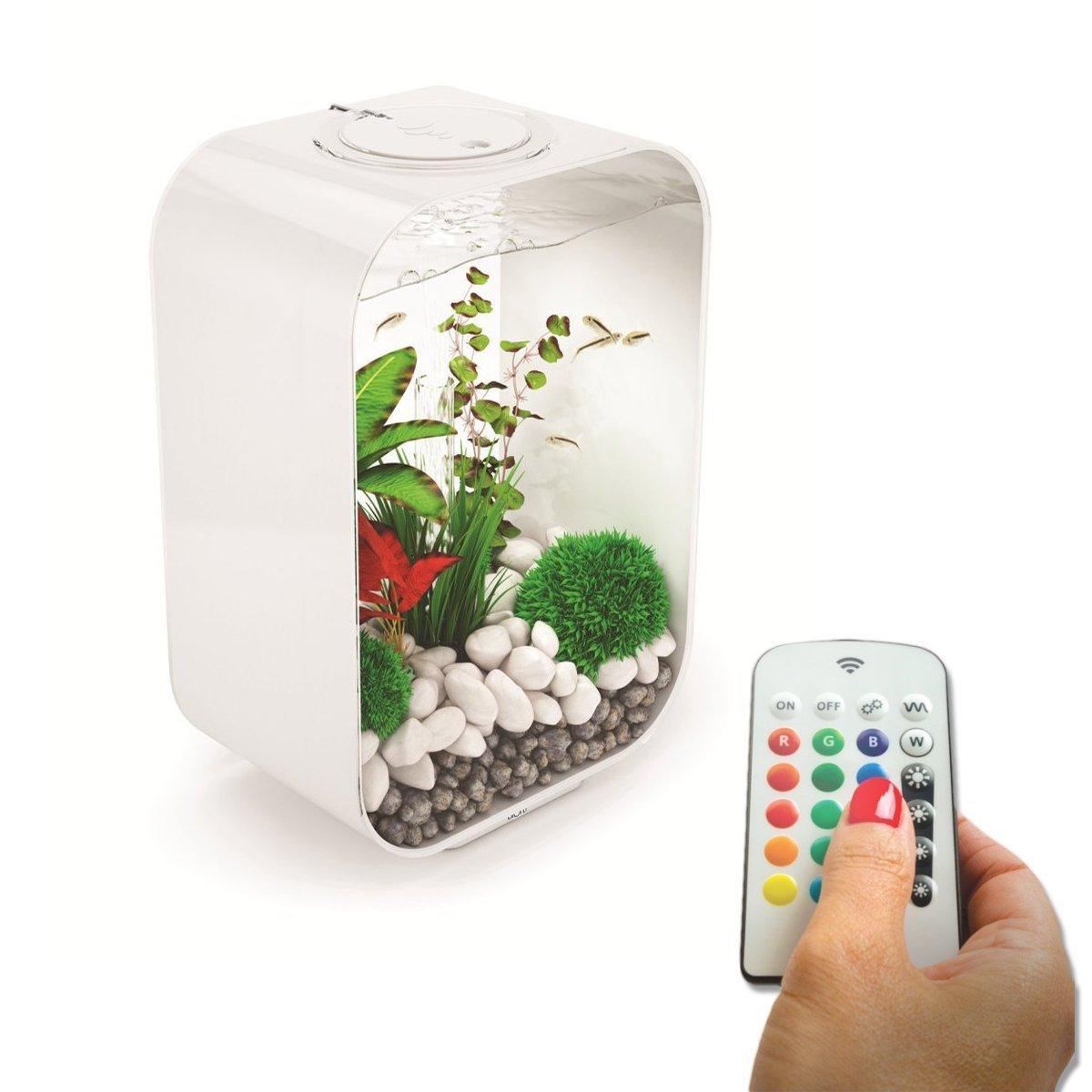 BiOrb LIFE 45L White Aquarium Fish Tank with Multi Colour LED Lighting
