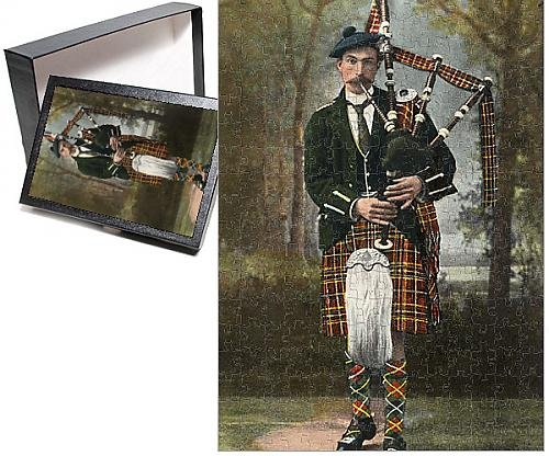 Photo Jigsaw Puzzle of A Scottish Piper wearing McInnes (Pipers Piping Costume)