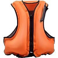 XHONG uppblåsbar livjacka, simning flytväst uppblåsbar snorkla livjacka väst för vuxna