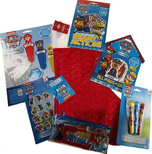 Paw Patrol Pre Filled 6 Piece Christmas Stocking - With Toys Stickers Gifts (Pre Filled Christmas Stockings)