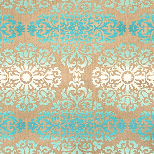 Sunbrella Indoor/Outdoor Ombré Medallion Floral Upholstery Fabric by The Yard Monaco -