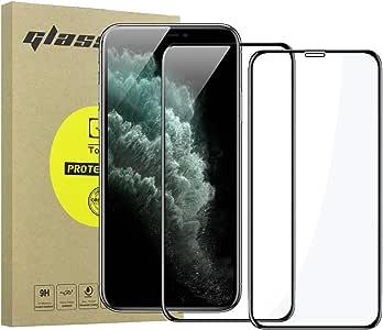 Simpeak 2-Pack Protector de Pantalla Compatible para iPhone 11 Pro/XS/X [5,8 Pulgadas], Cristal Templado Premium Vidrio Templado Compatible con iPhone 11 Pro Bubble Free/HD Clear - Negro