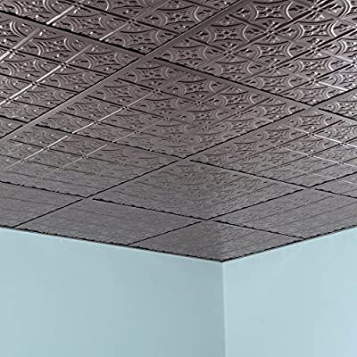 Fasade - Traditional Style/Pattern #1 Lay In Ceiling Tile/Ceiling Panel - Fast and Easy Installation