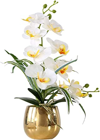 2X Artifical Flowers Fake Bouquet Butterfly Orchid Bridal Plant Bonsai Durable