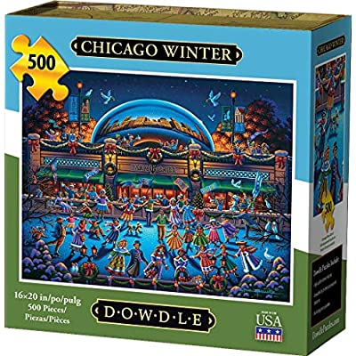 Dowdle Jigsaw Puzzle - Chicago Winter - 500 Piece: Toys & Games