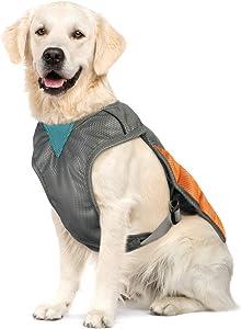 POPETPOP Dog Cooling Vest - Reflective Dog Cooling Coat with Adjustable Side Straps, Pet Cooler Jacket for Small, Medium Dog