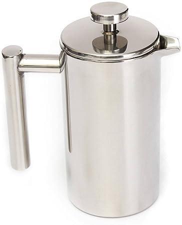 KING DO WAY 350 ml Cafetera Moka Tetera individual con infusor y taza de café de
