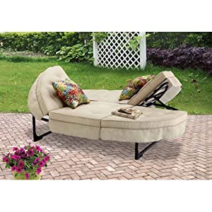 Charmant Orbit Chaise Lounger, Tan, Seats 2. This Patio Chaise Lounge Is Sure To