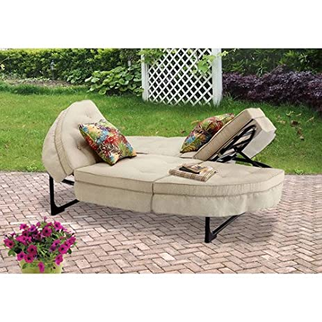 Orbit Chaise Lounger, Tan, Seats 2. This Patio Chaise Lounge Is Sure To