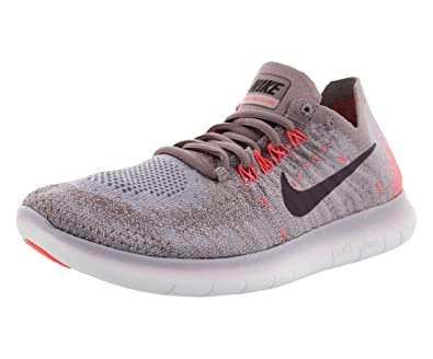 separation shoes 7edf9 c8e32 Amazon.com   Nike Womens Free RN Flyknit 2017 Running Shoe TAUPE GREY PORT  WINE-SOLAR RED 8.0   Road Running