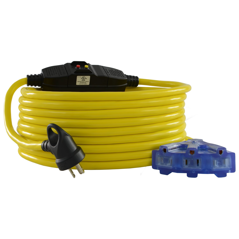 Conntek 20411-100-IG GFCI Extension Cord, 100-Feet, Yellow
