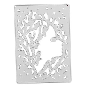 dovewill relieve, diseño de corte de metal muere Plantillas para DIY Scrapbooking álbum Tarjetas de papel Craft de Navidad bebé ducha partido decoración: ...