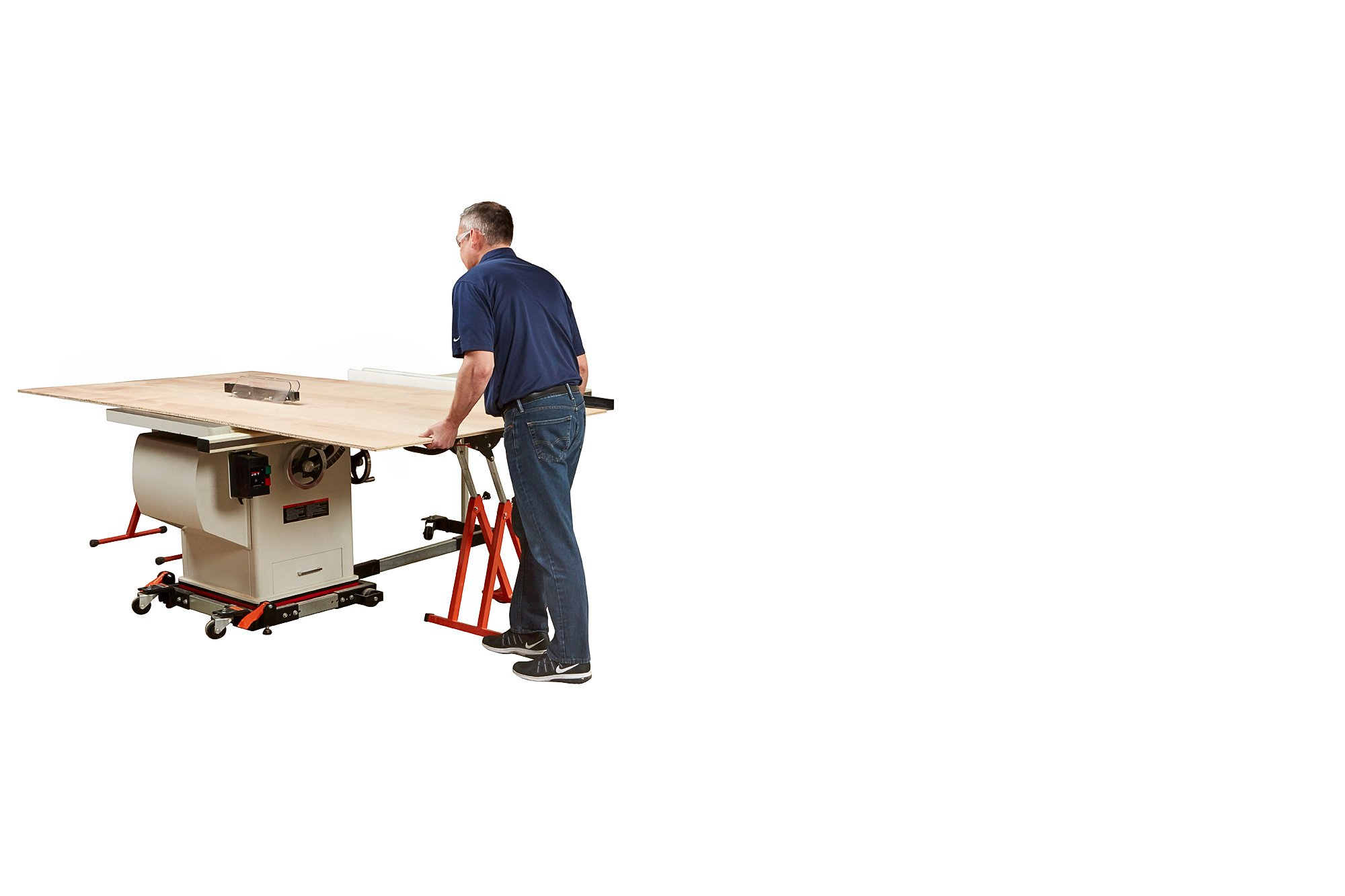 Portamate PM-1800 Panel Carrier Full 4x8 Sheet Carrier Board Cart Table Saw Feed Stand That Allows One Person to Easily Move and Cut 4x8 Sheets