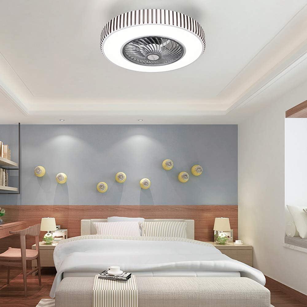 XMAGG Moderna Ventilador de Techo Lámpara de Techo, con Luz y Mando a Distancia Ventilador Silencioso Lámpara de Techo LED Regulable Ventilador Invisible Cuarto de Estar Dormitorio Plafón Fan