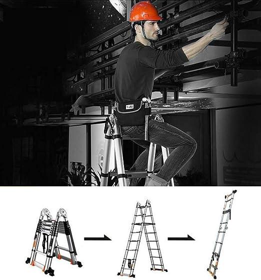 HUI Escalera Telescópica De Aluminio Escalera Extensible Escalera Multipropósito Portátil, Capacidad De 150kg, Casa, Desván Y Oficina,3.3+3.3M-Multi-functionLadder: Amazon.es: Hogar